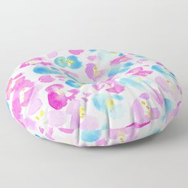 Painterly Floral Floor Pillow