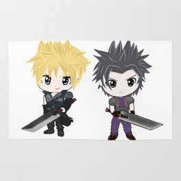 Cloud & Zack Final Fantasy chibi Rug