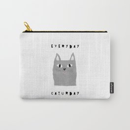 Caturday / poster, cat, art print, pictures, scandinavian, nursery, deco, family, art, animal, petti Carry-All Pouch