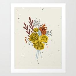 Season's End Blooms Art Print