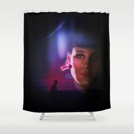 Rachael Blade Runner Poster Shower Curtain