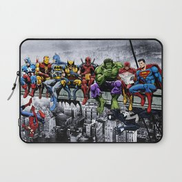 Superhero Lunch Atop A Skyscraper Laptop Sleeve