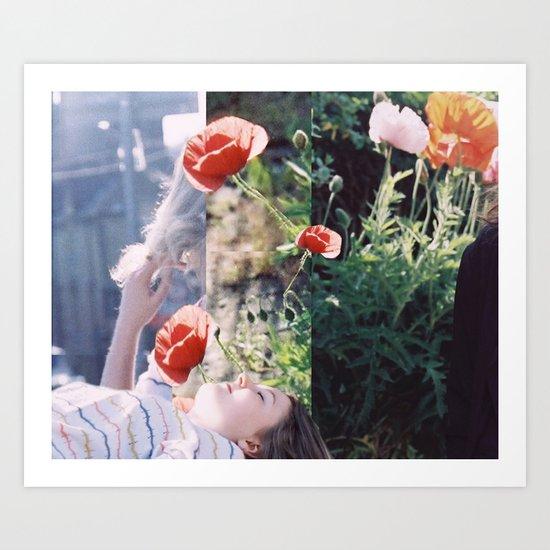 Friends + Flowers Art Print