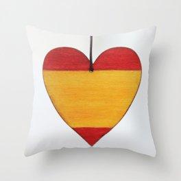 spain flag, flag of spain Throw Pillow