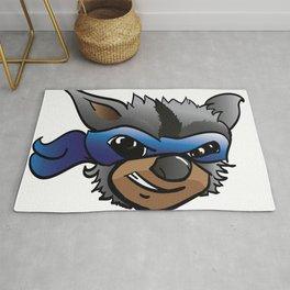 Bandit The Raccoon Rug