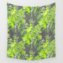 Chartreuse pattern Wall Tapestry