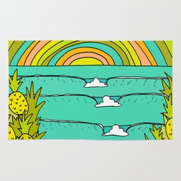 pineapple fields and endless summer vibes Rug