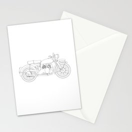 Motor Cycle Outline Stationery Cards