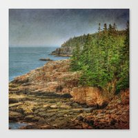 maine Canvas Prints featuring Maine by Kadwell Enz