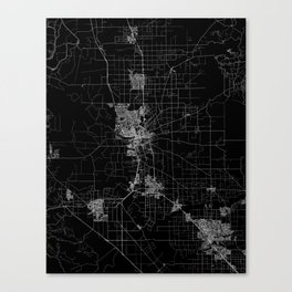 Stockton map California Canvas Print