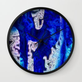 Blue Discontinuity Wall Clock