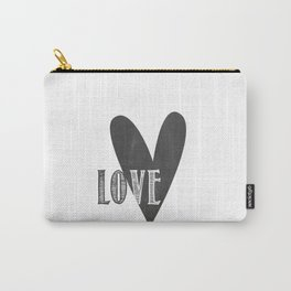 Home, Love, Illustration, Heart,  Carry-All Pouch