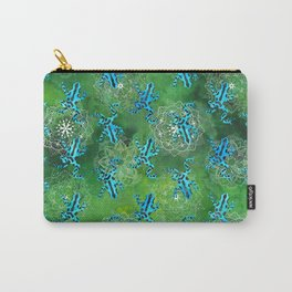 Watercolor Poison Dart Frogs Mandalas Pattern Carry-All Pouch
