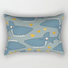 Cute Baby Shark Print Rectangular Pillow