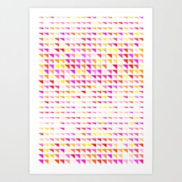 fete triangle pattern Art Print