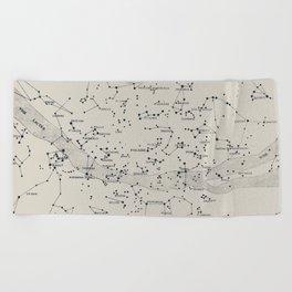 Carte du Ciel II Beach Towel