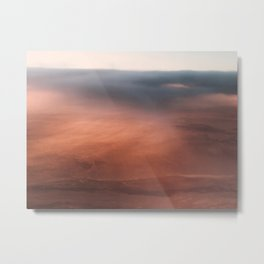 Above the Cloud Looking over the Earth - Landscape Photography Metal Print