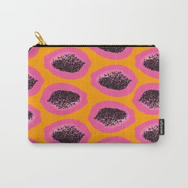 Pink Papaya Carry-All Pouch