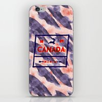 canada iPhone & iPod Skins featuring CANADA by Tania Orozco
