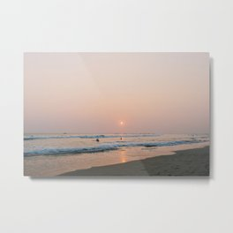 Sunset Surf on Kabalana Beach, Ahangama, Sri Lanka Metal Print