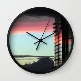 """""""Sunrise in the City"""" Wall Clock"""