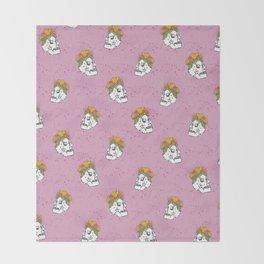 SKULL & FLOWERS - PINK Throw Blanket
