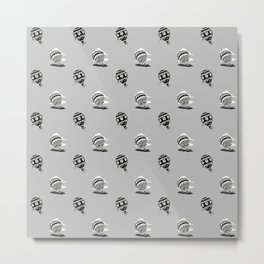 HOT AIR BALLOONS ON GREY Metal Print