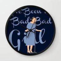 ahs Wall Clocks featuring Dot & Bette - 'I've Been a Bad, Bad Girl - AHS Freakshow by Hrern1313