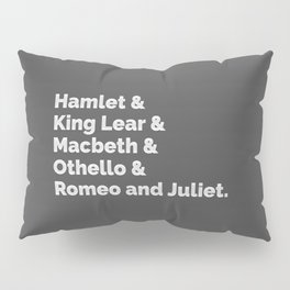 The Shakespeare Plays I Pillow Sham