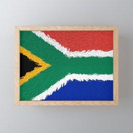 Extruded flag of South Africa Framed Mini Art Print
