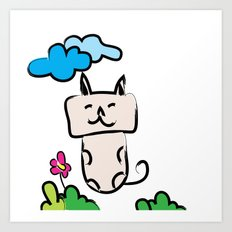 Kittie Cat Art Print