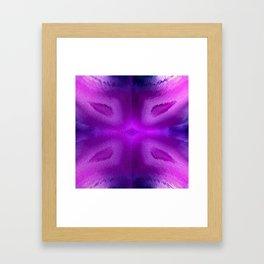 Agate Dreams in purple Framed Art Print