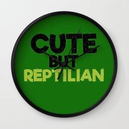 cute but reptilian Wall Clock