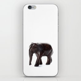 Brown Elephant with a Missing Piercing iPhone Skin