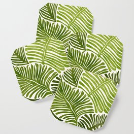Summer Fern / Simple Modern Watercolor Coaster