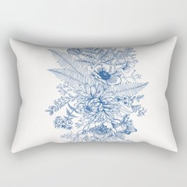 Vintage Blu Rectangular Pillow
