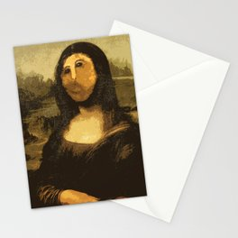 Ups! ( Mona Lisa - La Gioconda ) Stationery Cards