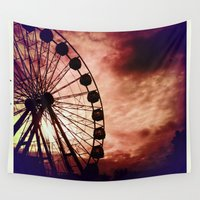 ferris wheel Wall Tapestries featuring ferris by Art by Ash