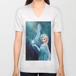 Elsa Frozen Unisex V-Neck