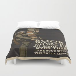 Vintage poster - Books Wanted Duvet Cover