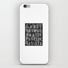 Way to success - goals, hardwork, hustle, patience, achieve iPhone & iPod Skin