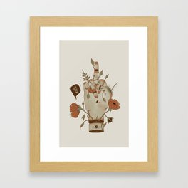 Love you but... Framed Art Print