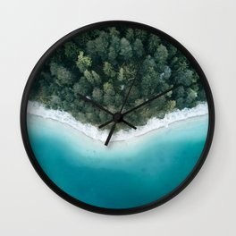 Green and Blue Symmetry - Landscape Photography Wall Clock