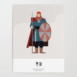 HARALD BLUETOOTH - VIKING KING AD 958 - 987 Poster