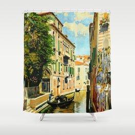 Venezia - Venice Italy Vintage Travel Shower Curtain
