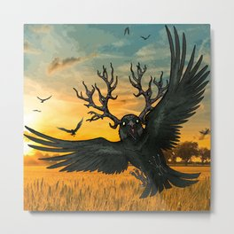 Malphas Halphas and the Murder of Crows Metal Print