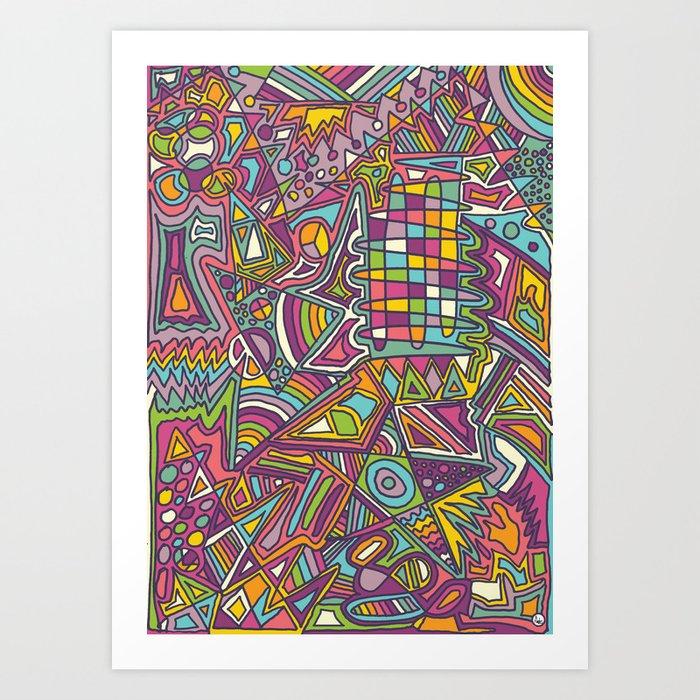 Colourful Chaos Art Print
