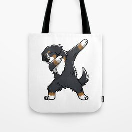Funny Bernese Mountain Dog Dabbing Tote Bag