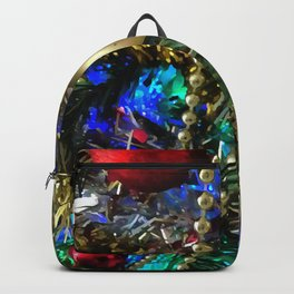 Christmas Tree Garlands And Ornaments Backpack