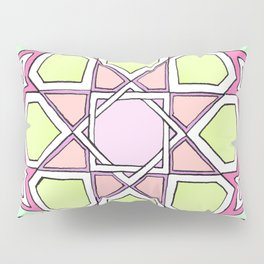 Pink Green Eight Fold Pillow Sham